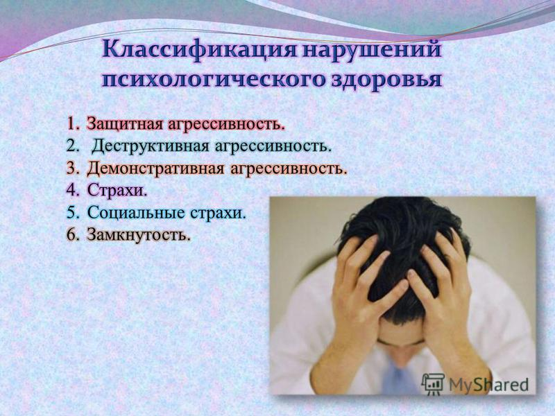 Психоэмоциональные нарушения.